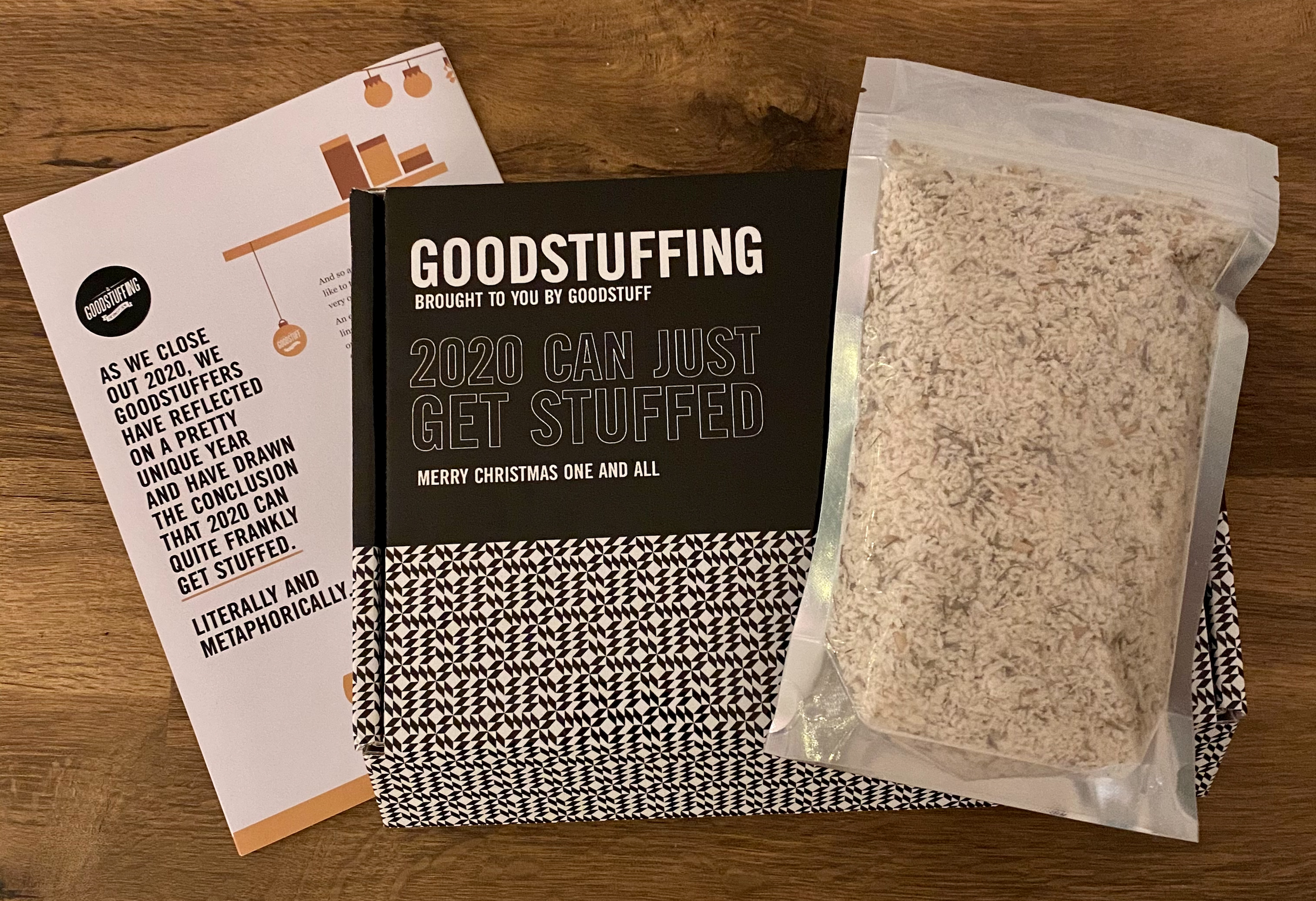 Goodstuff: card includes stuffing