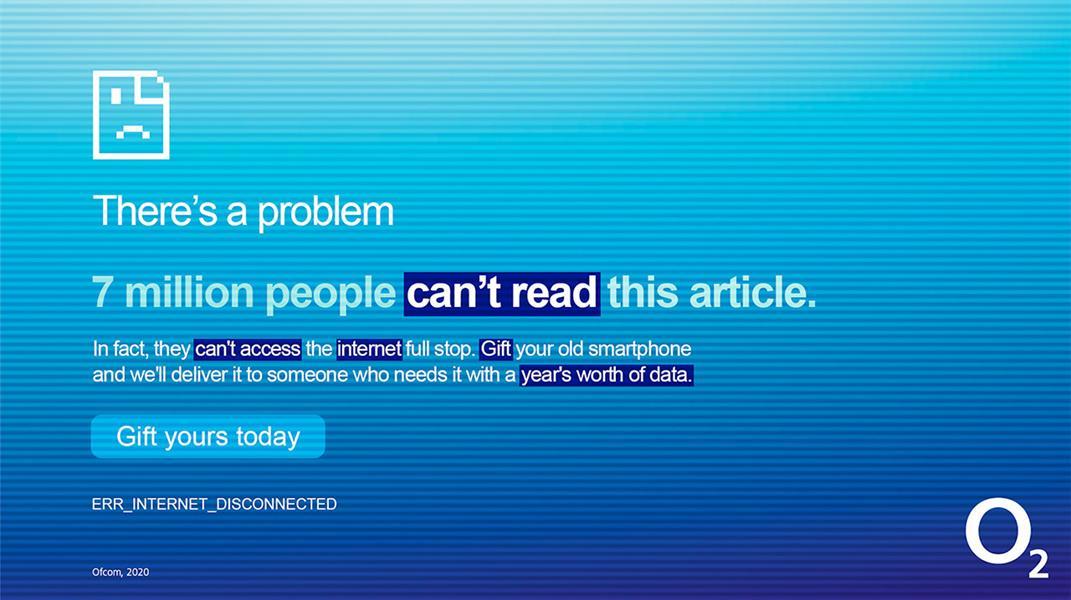 O2: ad highlights UK's digital divide