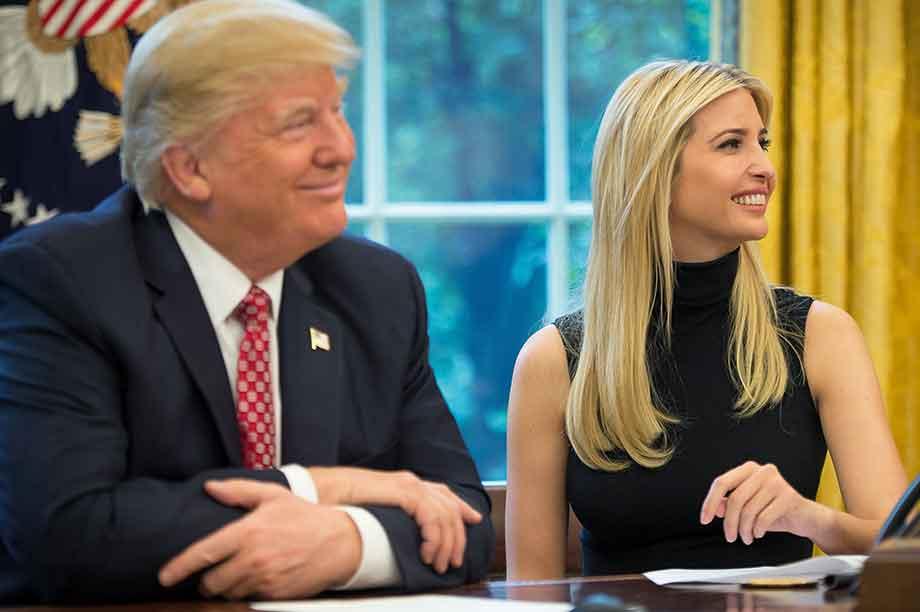 Donald and Ivanka Trump (pic: NASA)