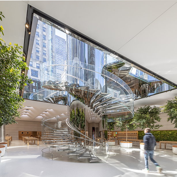 The Big Apple's largest Apple store reopens