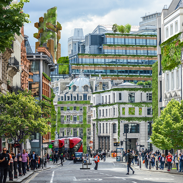 Painting the UK's cities green