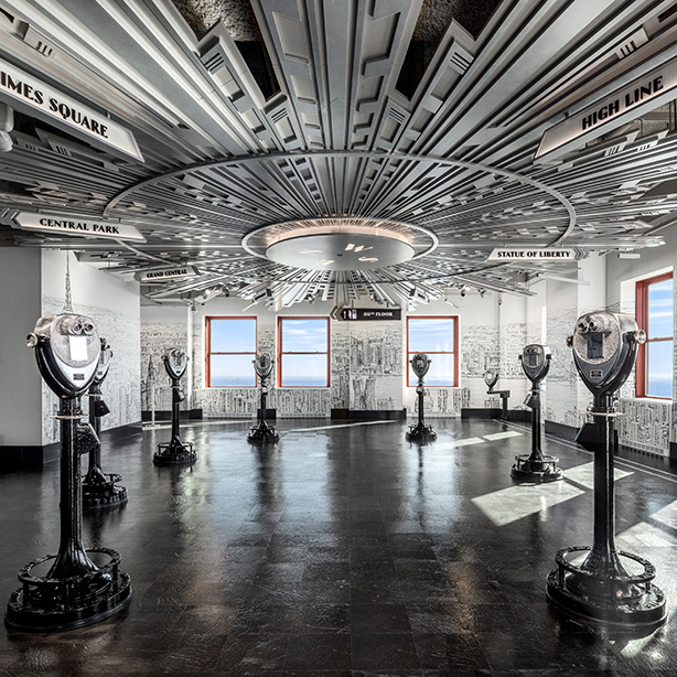 Beneville Studios reimagines The Empire State Building's Observatory