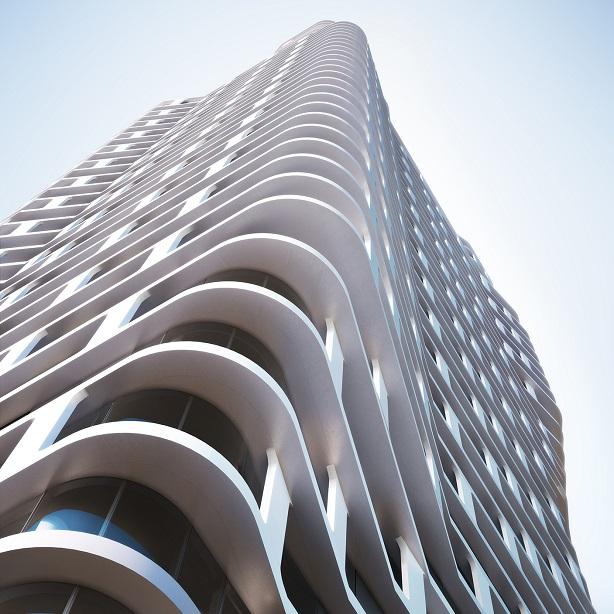 Sculptural tower brings light into Manhattan interiors