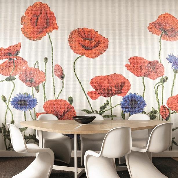 Carlo dal Bianco creates floral mosaics