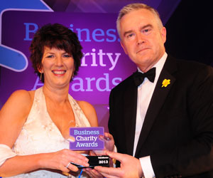 Janet Cleverley with Huw Edwards