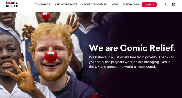 comic relief website