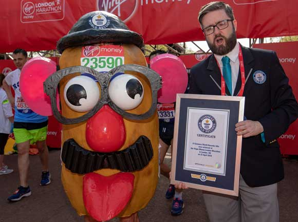 runner dressed as mr potato head