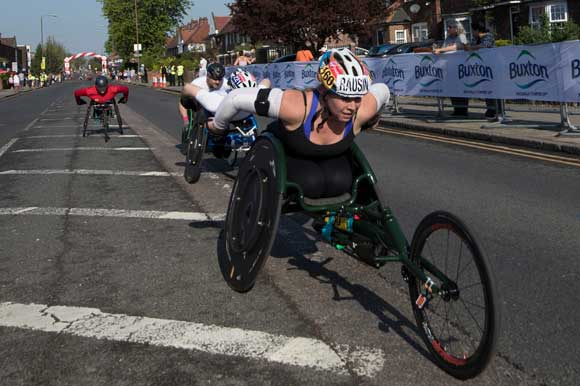competitors in wheelchair race