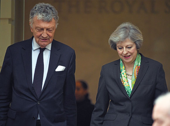 William Shawcross and Theresa May