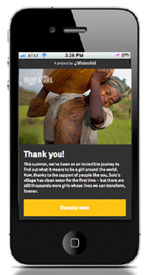 wateraid mobile