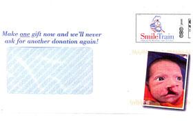 The Smile Train envelope