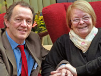 Kevin Whately pictured with Marilyn Cooper