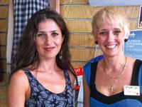Janine McGuinness [L] with Olivia Freeman