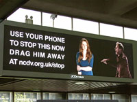 National Centre for Domestic Violence's Drag Him Away campaign