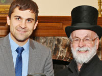 Dr Chris Medway with Sir Terry Pratchett