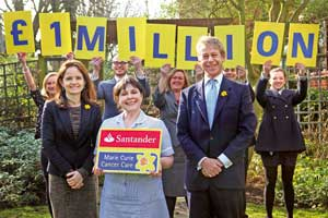 Marie Curie Cancer Care and Santander