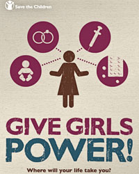 Save the Children's Give Girls Power! campaign