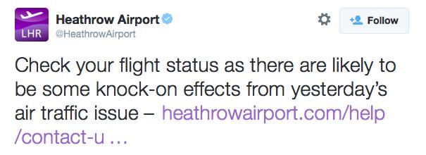 Heathrow tweet