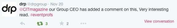 CEOs story Twitter response