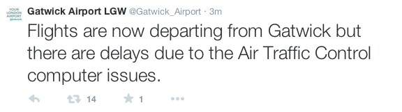 Gatwick Airport tweet