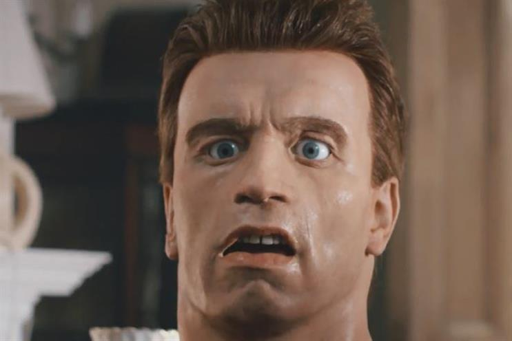 The FCA's surreal campaign featuring the animatronic head of Arnold Schwarzenegger