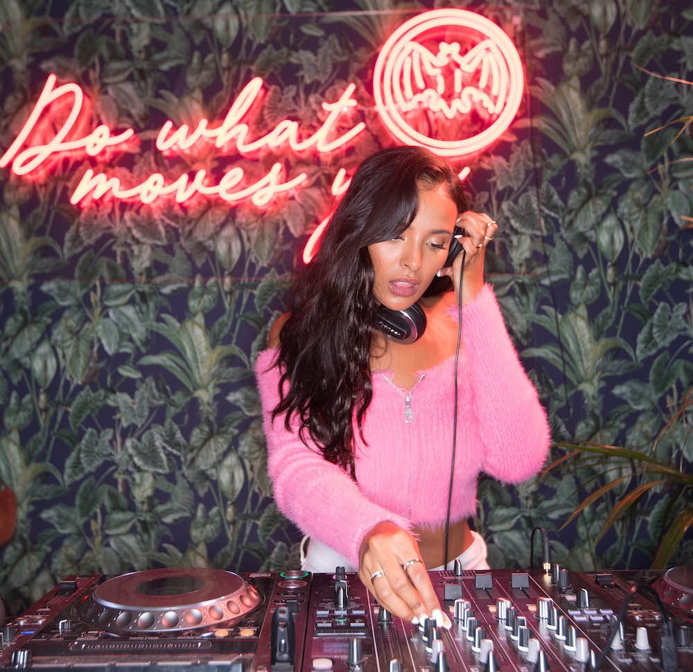 Maya Jama DJ's for Bacardi