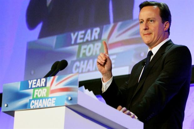 David Cameron, leader of the Conservative Party