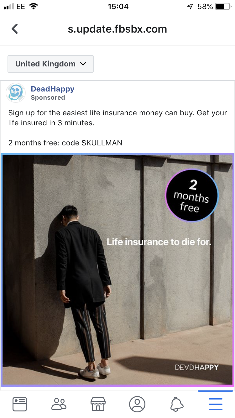 Skullman: Dead Happy argued the ad was part of a wider campaign