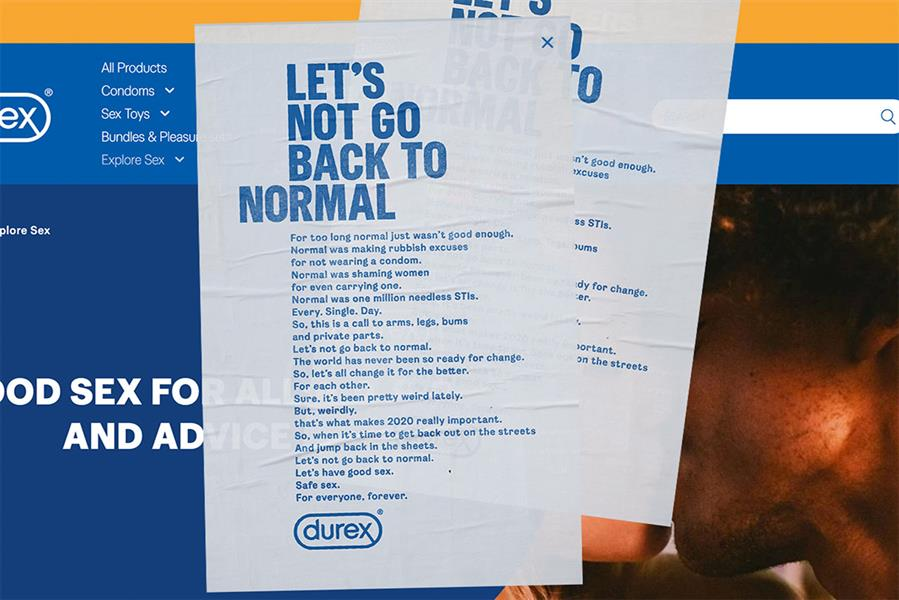 Let's not go back to normal: outdoor ads show brand's manifesto
