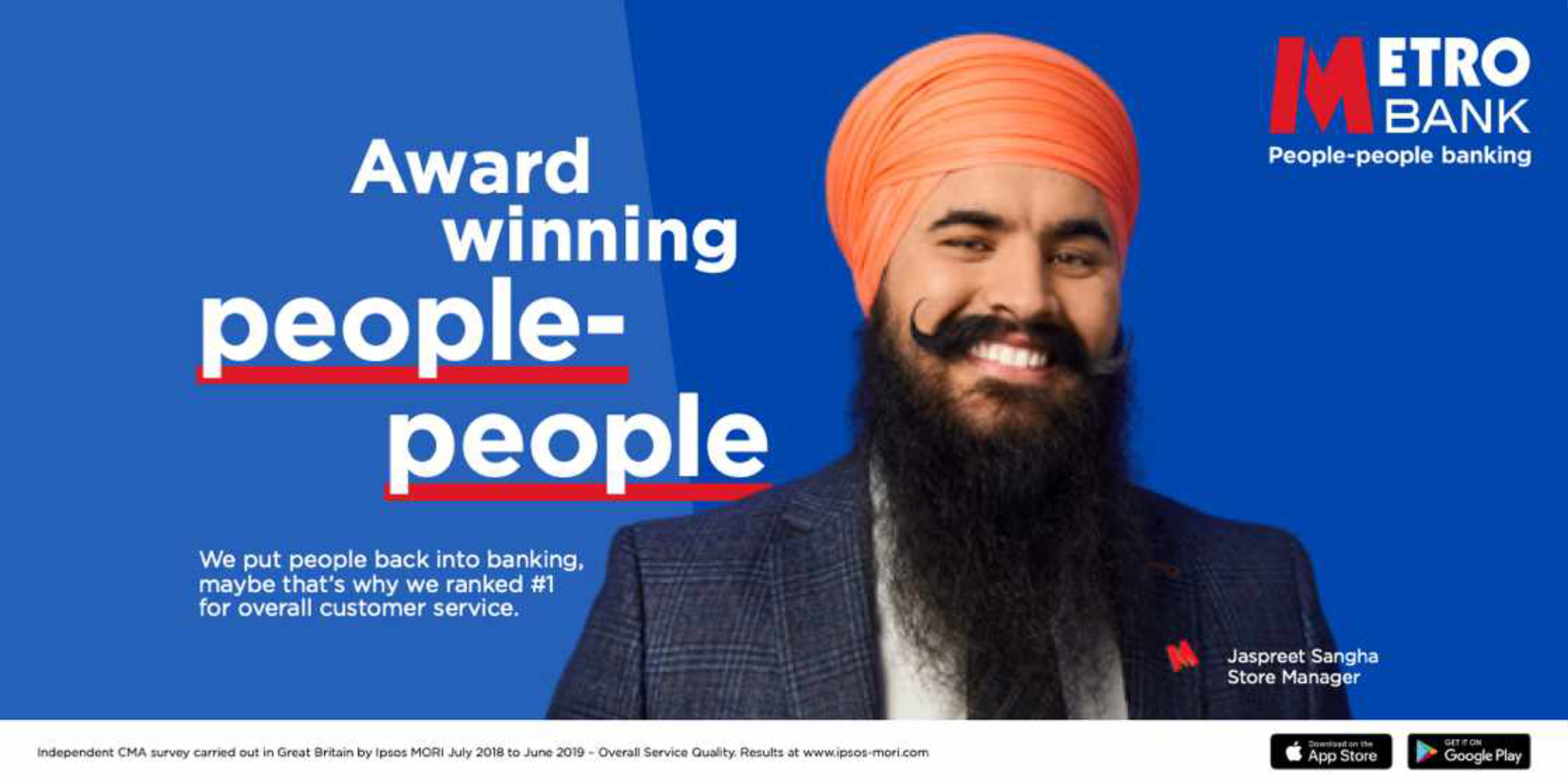 People-people banking: campaign features TV and out-of-home activity