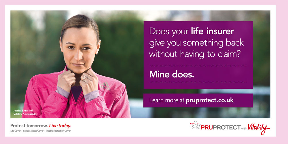Jessica Ennis-Hill stars in PruProtect campaign