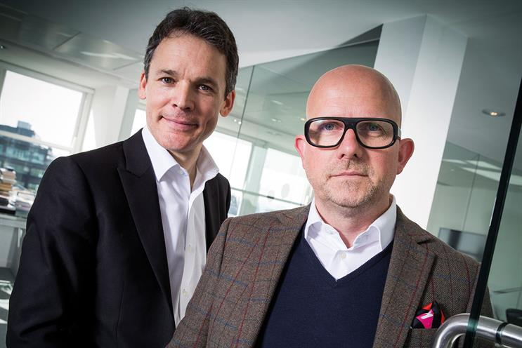 Chicourel's M&C Saatchi colleagues, chief executive Giles Hedger (left) and chief creative officer Justin Tindall