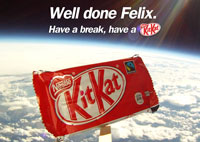 Kit Kat on the edge of space