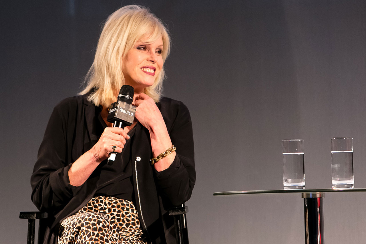 Joanna Lumley talks at the AOL 2016 IAB Digital Upfronts session