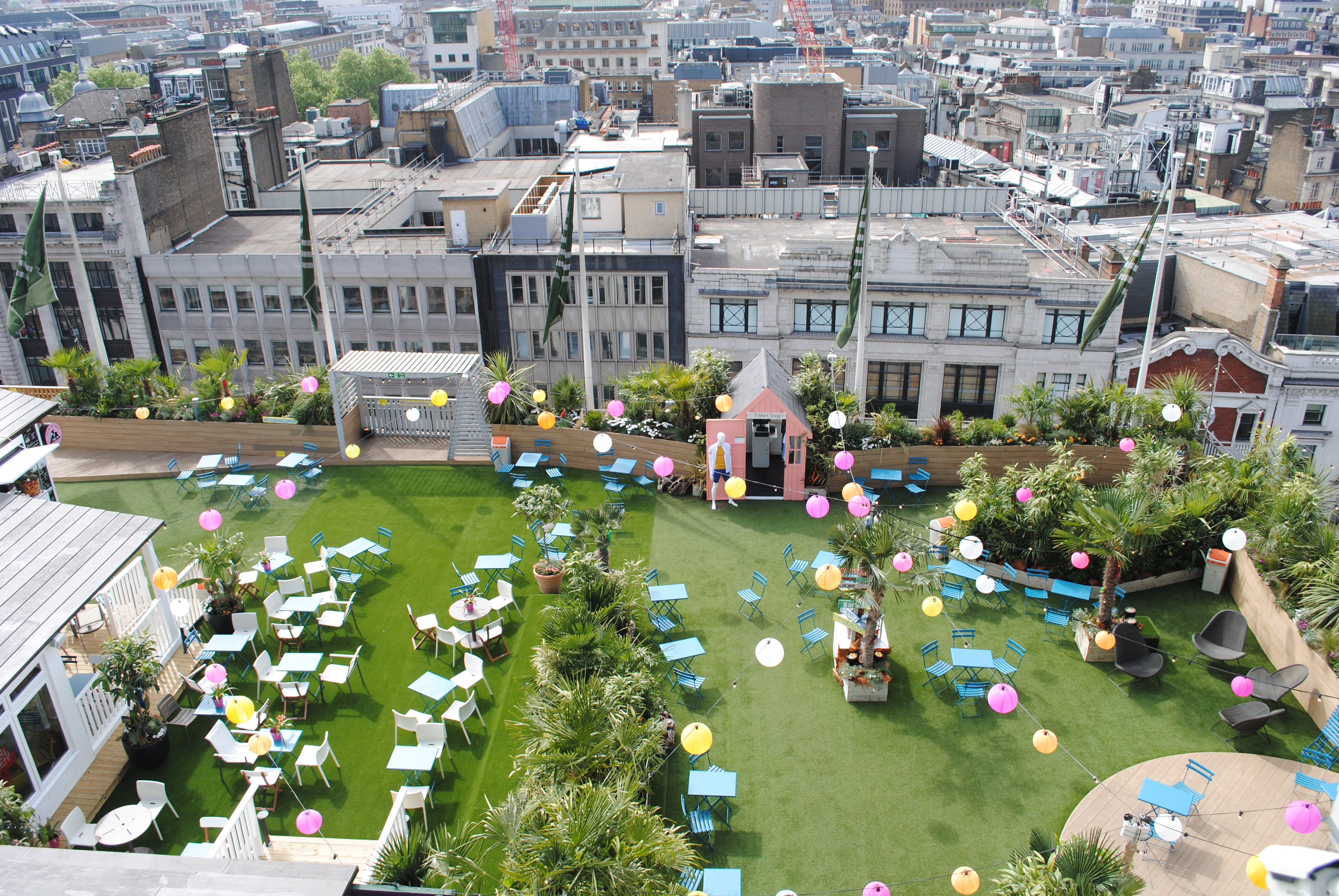 Rooftop garden for John Lewis' 150th birthday