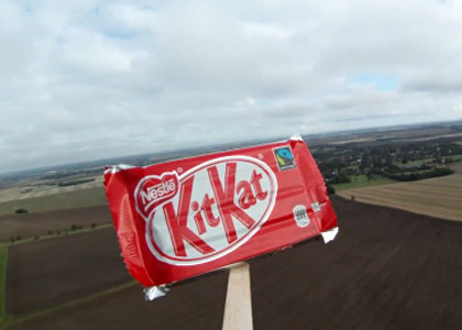 Nestlé sends KitKat into space for Felix Baumgartner: