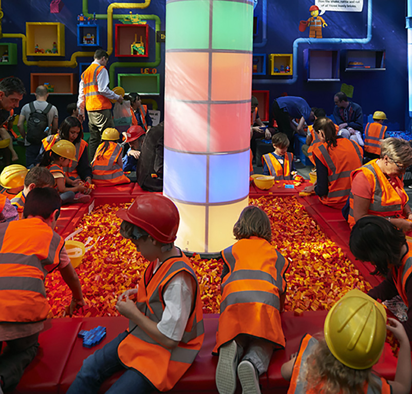 Kids get stuck in at a LEGO Imagination Factory event