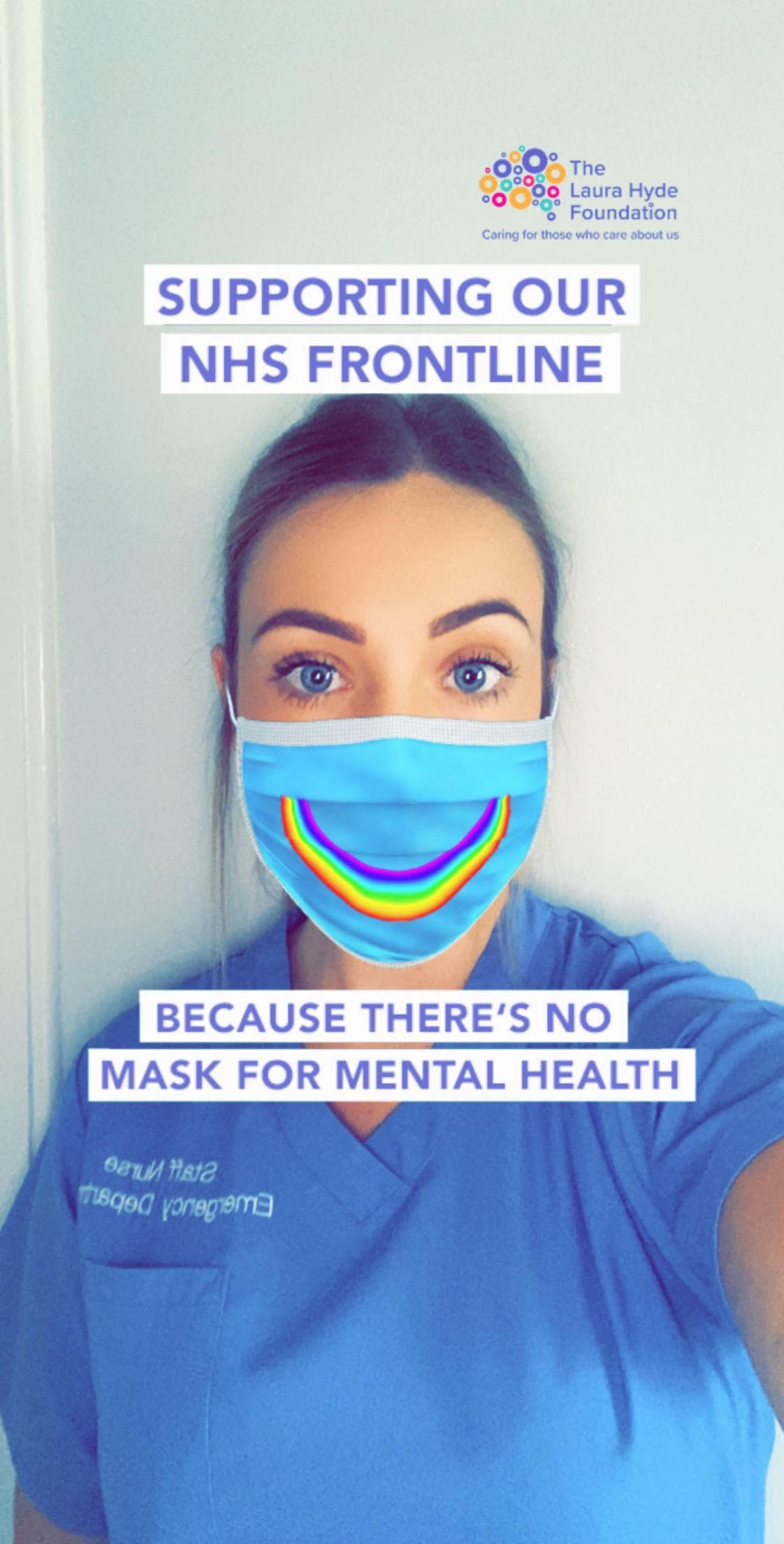 No mask for mental health: campaign includes virtual mask filter