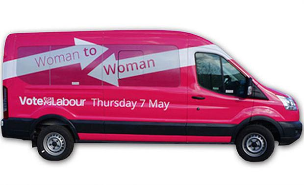 Labour's pink bus