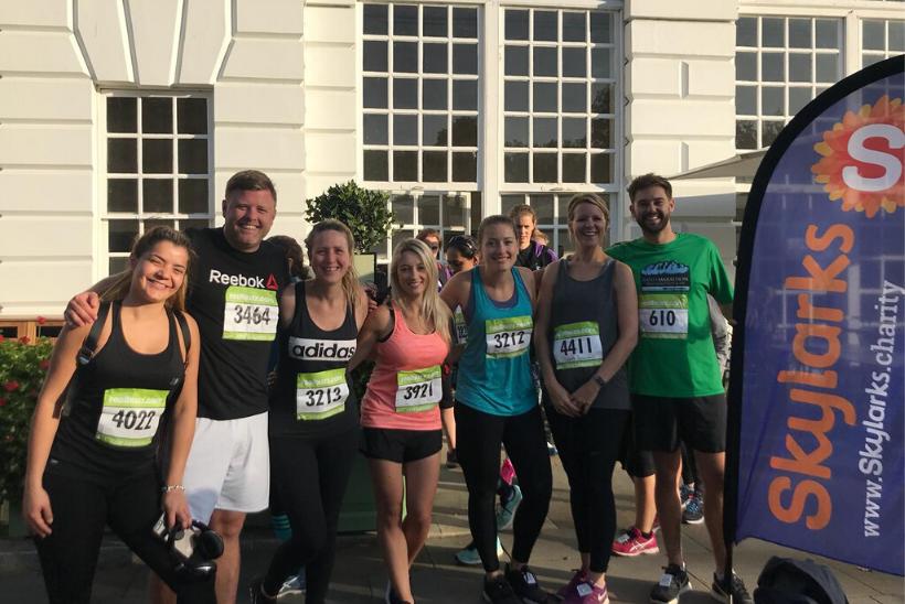 Haymarket runners who took part in RichmondRunfest raising money for Skylarks