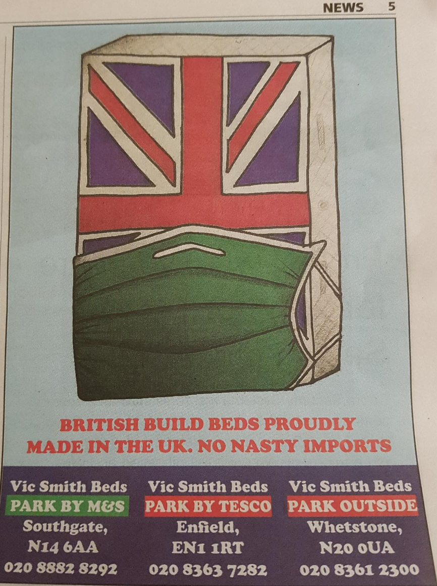 Vic Smith Beds: ad banned for potential to cause 'widespread offence'