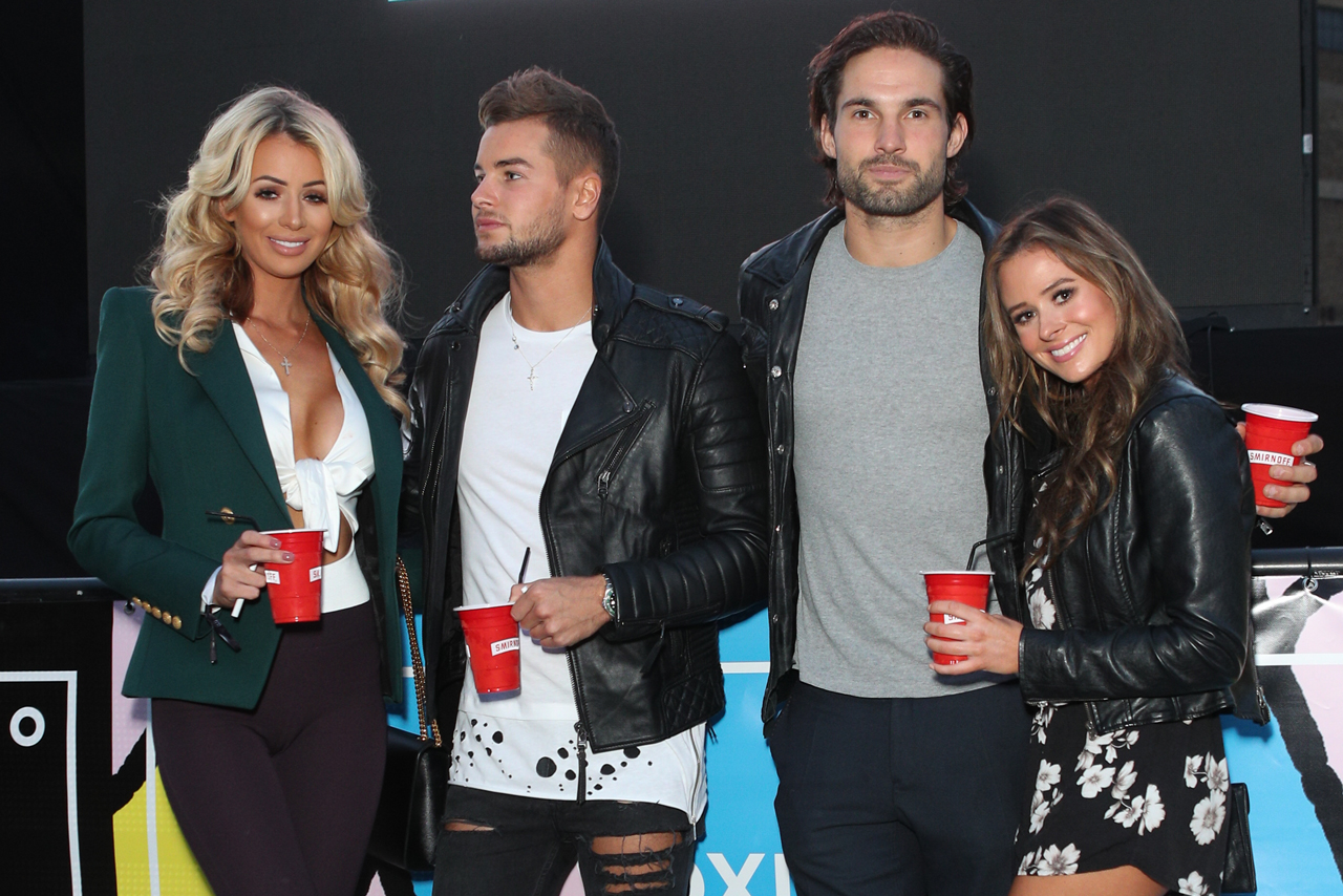 Love Island stars at the Voxi launch