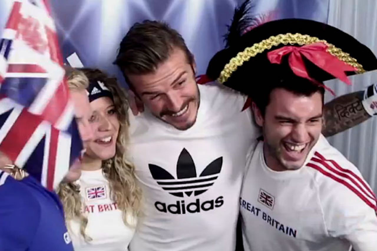 Adidas: Beckham surprised fans in a pop-up experience at London 2012