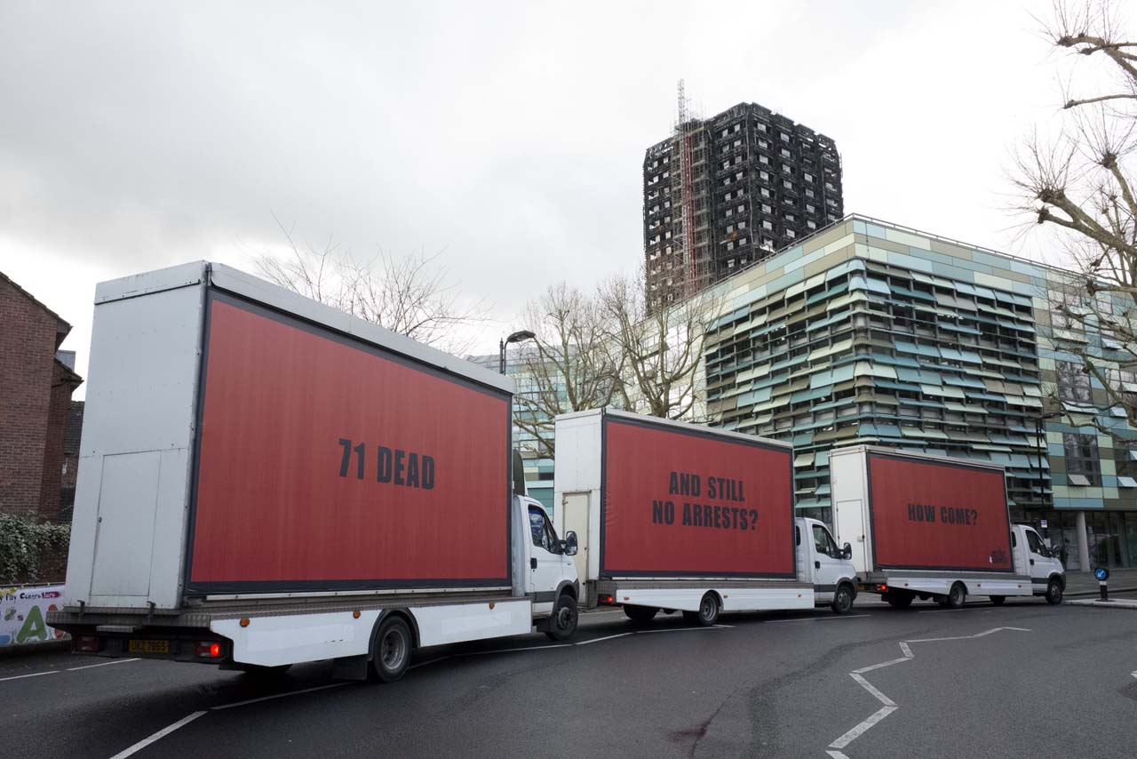 Three billboards: Ad aimed to keep Grenfell fresh in the minds of the public