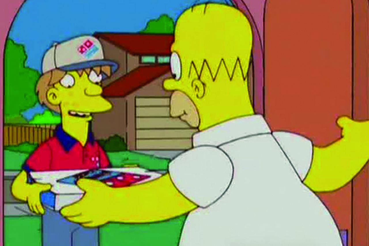 Domino's sponsorship of The Simpsons on Sky One