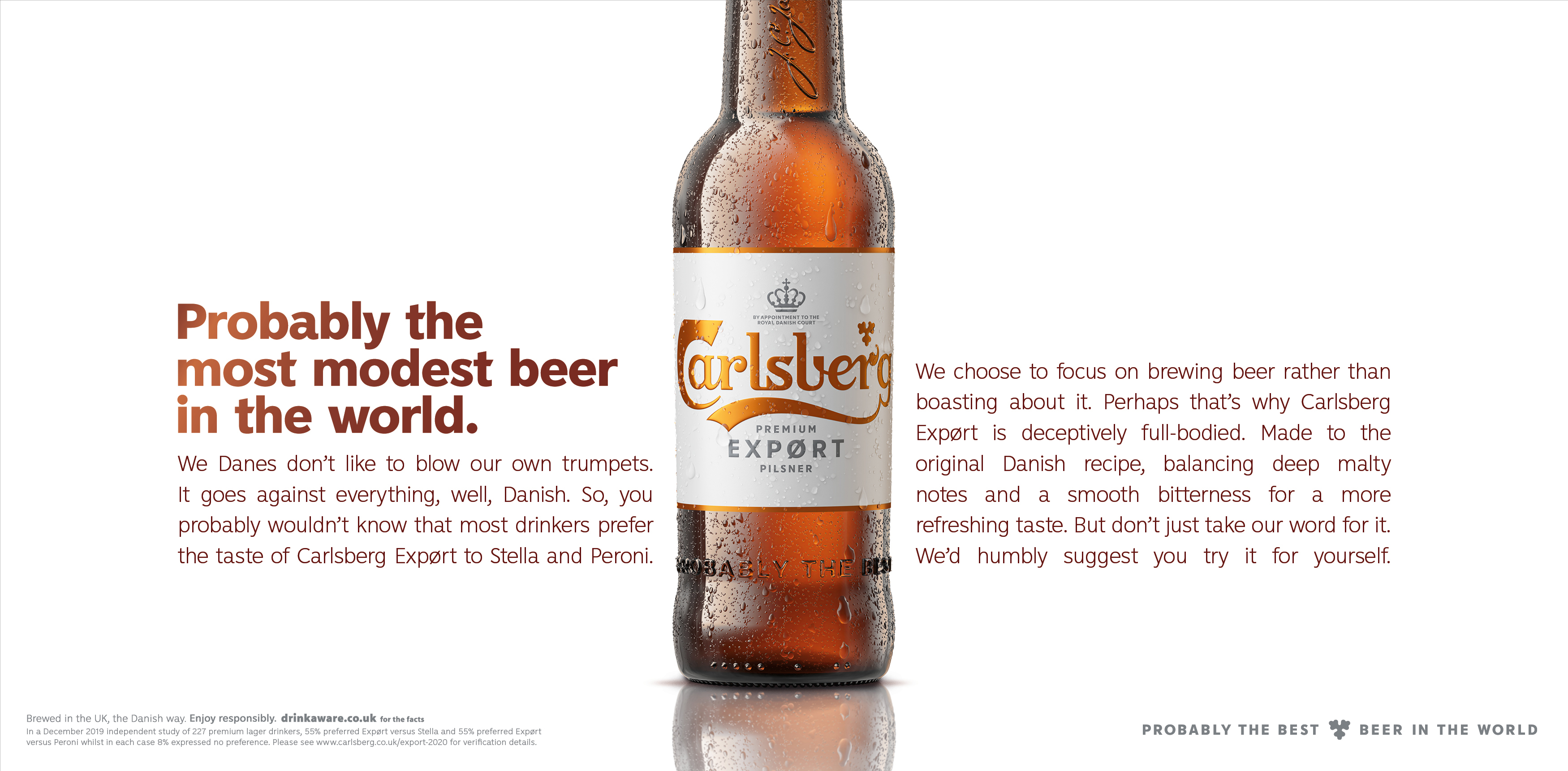 Carlsberg: ad claims brand is