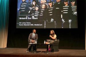 Lenny Henry talking to Karen Blackett at BigThink@Bafta