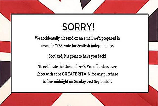 Made.com Scottish mistake