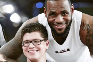 Matthew Walter with LeBron James in Nike's Flyease viral video