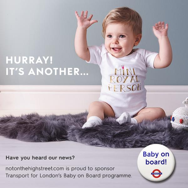 Notonthehighstreet.com celebrates the arrival of Princess Charlotte